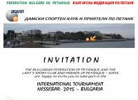 Invitation - International Tournament Nessebar 2015 - Bulgaria